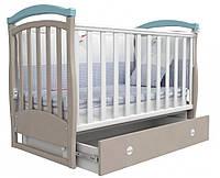 Детская кроватка Соня ЛД 6 маятник (капучино-голубой)
