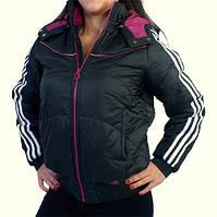 Куртка спортивная женская adidas YG J JKT O03354 (черная, демисезонная, с капюшоном, манжетами, бренд адидас)
