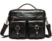 Мужская сумка через плечо Bexhill BX8001B Темно-коричневая