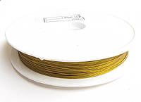 Ланка (ювелирный тросик) диам. 0,38 мм цвет золото