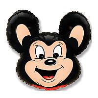 Фольгированный шар фигура Микки Маус черный 901515 FlexMetal
