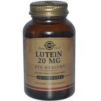 Solgar, Лютеин, 20 мг, 60 гелевых капсул