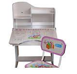 Дитяча парта+стілець HBF2071-02 рожева(від 2-х до 70-ти років!) ЛАМІНАТ. київ, фото 4
