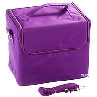 Кейс для косметики тканевый (квадратный) Фиолетовый