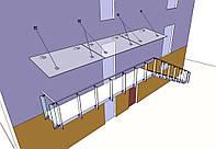 Скляний дашок на вантах, фото 1
