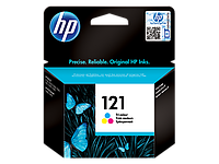 Оригинальный струйный цветной картридж HP - 121, Cyan, Magenta, Yellow