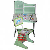 Детская парта со стульчиком трансформер Bambi HB 2071-03 (стол-парта-растишка, 5 положений) КИЕВ, фото 3