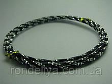 Проволока декоративная черная с серебром