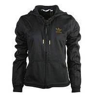 bdcf0b03 Толстовка спортивная женская adidas D TT Sleek E16980 (черная, хлопок, на  молнии,