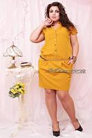 Платье женское нарядное стрейч коттон (вискоза) размеры 50,52,54,56