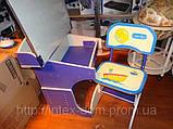 Растущая детская парта со стульчиком Bambi HB 2876-01 с регулируемой столешницей, фото 2