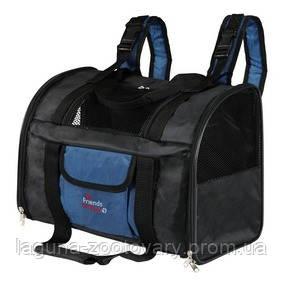Сумка - Рюкзак, переноска  для собак и кошек до 8кг, 42х29х21см, синий/черный, фото 2