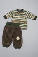 Велюровый костюм для мальчика до года 0912