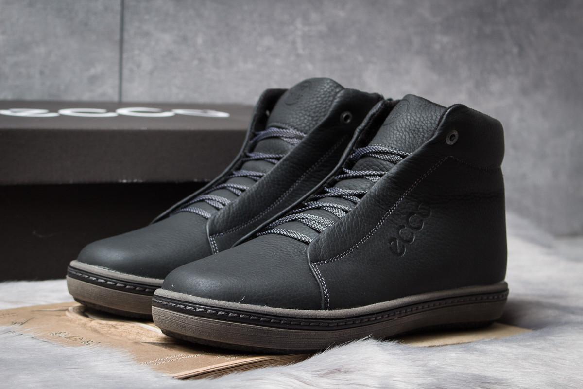 Зимние ботинки  на мехуEcco S Shoes, черные (30791) размеры в наличии ► [  40 44  ]