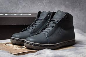 Зимние ботинки  на мехуEcco SSS Shoes, темно-синие (30792) размеры в наличии ► [  40 (последняя пара)  ]