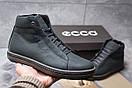 Зимние ботинки  на мехуEcco SSS Shoes, темно-синие (30792) размеры в наличии ► [  40 (последняя пара)  ], фото 2