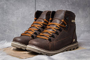 Зимние ботинки  на меху CAT Caterpilar, коричневые (30752) размеры в наличии ► [  40 42  ]