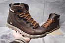 Зимние ботинки  на меху CAT Caterpilar, коричневые (30752) размеры в наличии ► [  40 42  ], фото 2