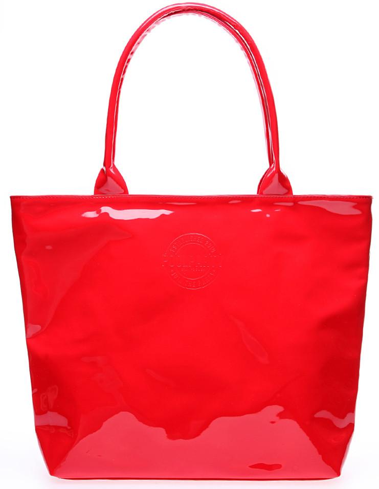 5b03de6d114d Женская лаковая сумка POOLPARTY pool7-laque-red красная — только ...