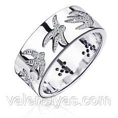 Серебряное кольцо широкое К2Ф/2029