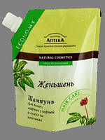 """Шампунь """"Зелёная аптека"""" с женьшенем для волос, жирных у корней и сухих на кончиках, 200 мл."""