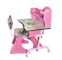 Детская парта со стульчиком трансформер Bambi HB 2072-02 (стол-парта растишка) розовая.киев