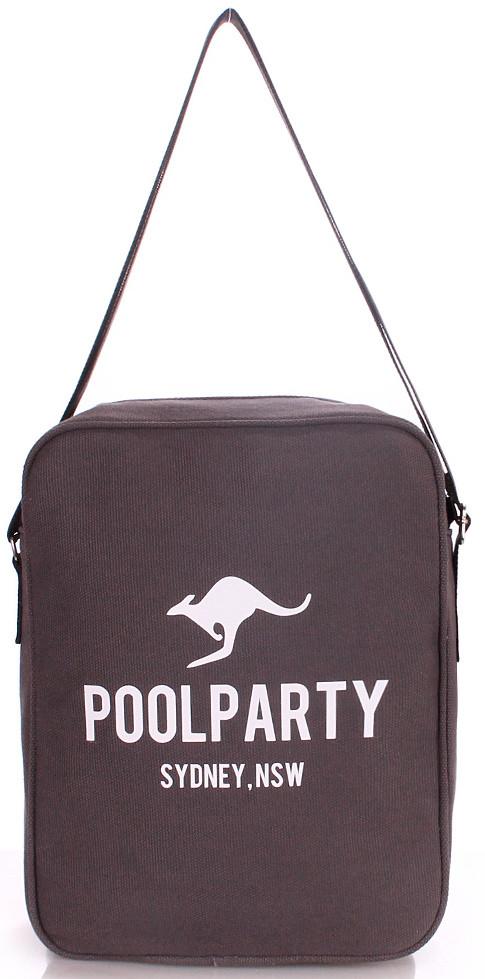 Сумка мужская POOLPARTY SARARI CROSSBODY BAG  pool-18-grey серая