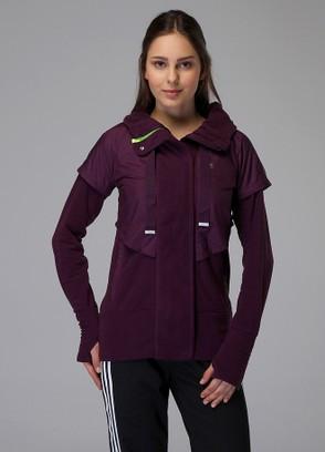 Толстовка спортивная женская adidas AL Q3 Flee P43703 (фиолетовый, флисовая, на молнии, теплая, бренд адидас)