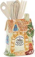 Подставка Домик в деревне 11 х 15 см для кухонных принадлежностей (BD-590-179_psg)