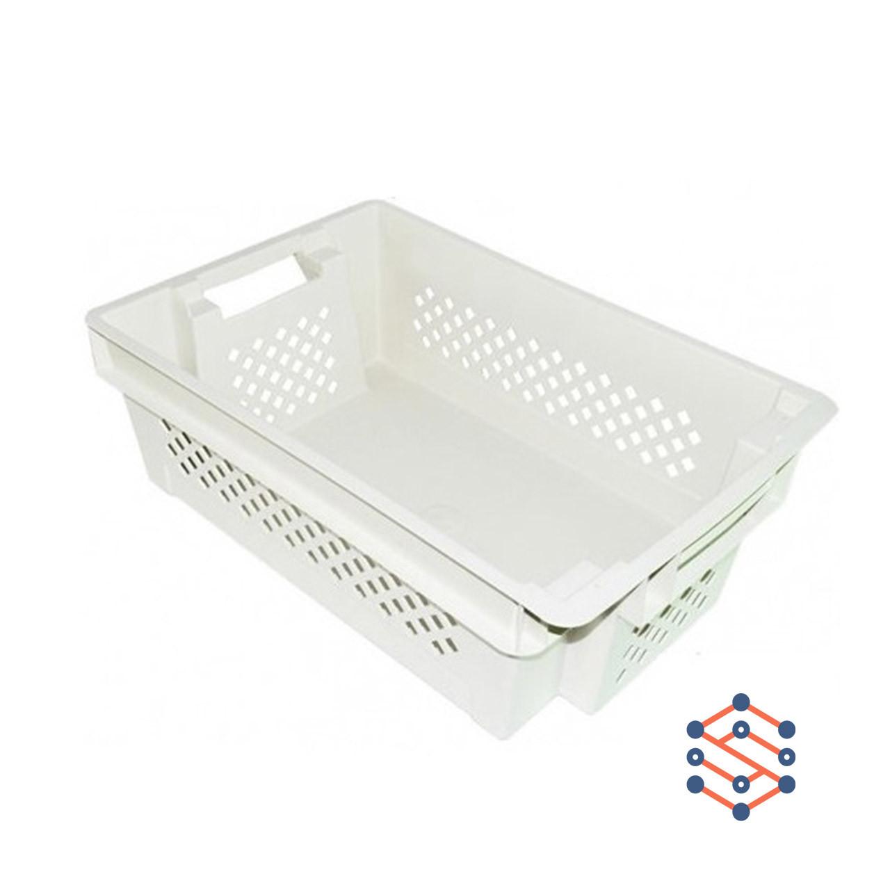 Пластиковый ящик дно сплошное стенки перфорированные 600х400х200 мм