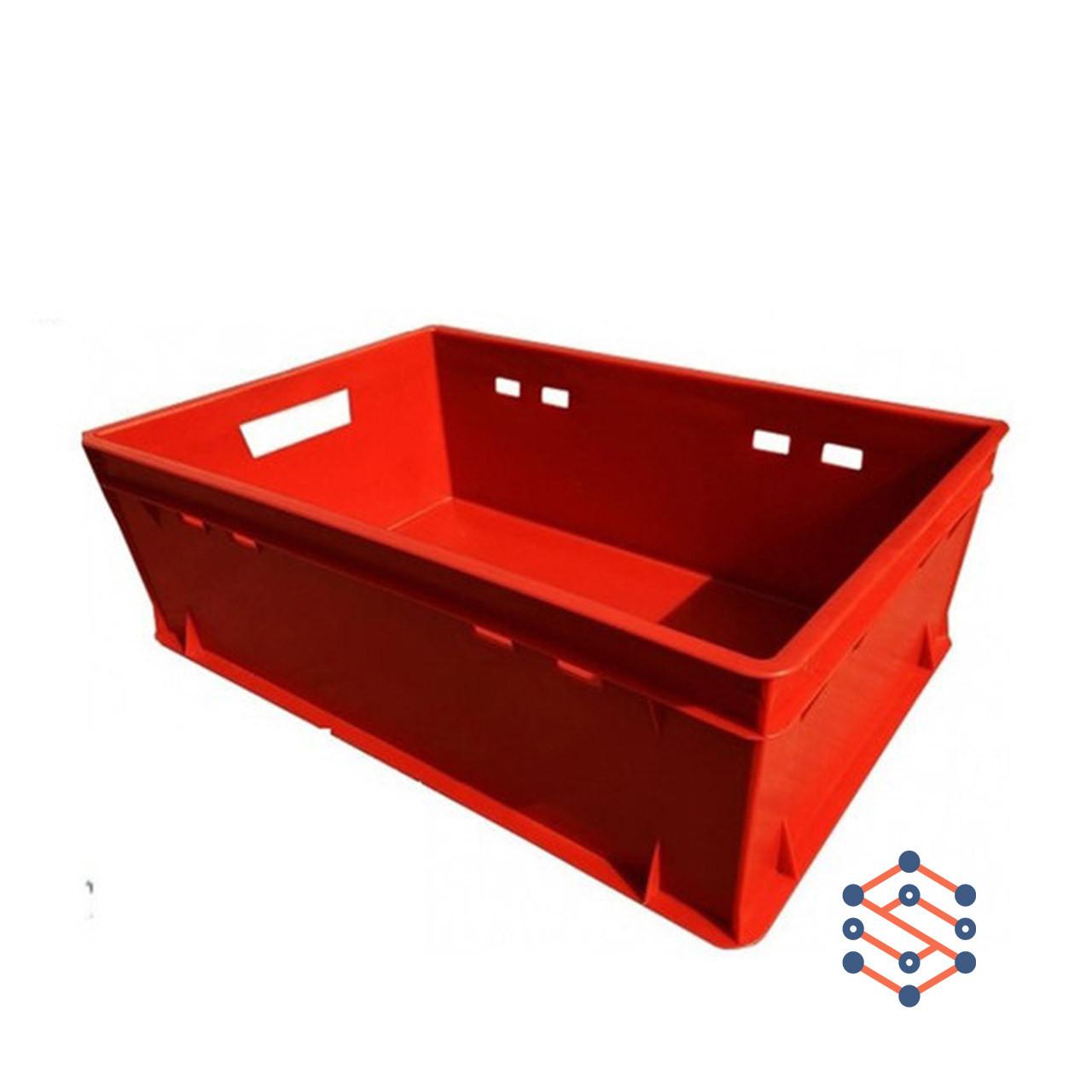 Пластиковый ящик сплошной 600х400х200 мм - Е