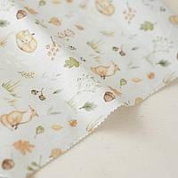 Тканина - Лисы в осеннем лесу - Forest Story - 25x80