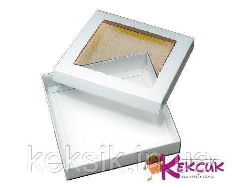 Коробка для пряников Белая 15*15*3 см