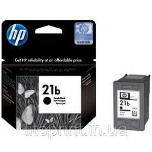 Оригинальный струйный текстовый черный картридж HP - 21b, Black