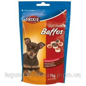 Лакомство для собак со вкусом говядины и рубца.