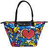 Яркая женская сумка с клапаном POOLPARTY pool80-2 синяя