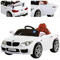 Детский электромобильБМВ 7 серии M 2773 EBLR-1, кожаное сиденье и мягкие колеса