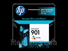 Оригинальный струйный цветной картридж HP - 901, Cyan, Magenta, Yellow