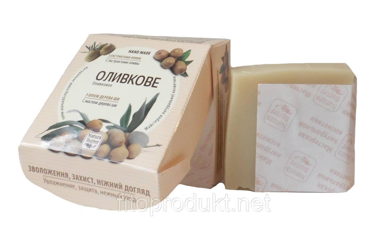 Кремовое натуральное мыло Оливковое, 100г Натура Баттер