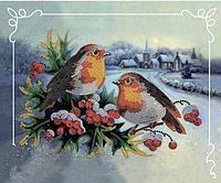 Набор для вышивки бисером Идейка Пара птиц (27494)