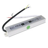 Блок питания 20W для светодиодной ленты DC12 1,67А WP герметичный, алюминиевый