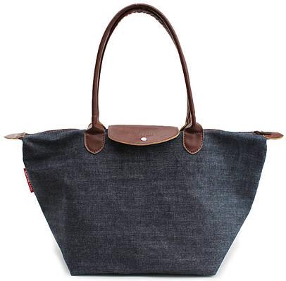 Джинсовая женская сумка с клапаном POOLPARTY VEGAS DENIM HANDBAG pool80-jeans синяя