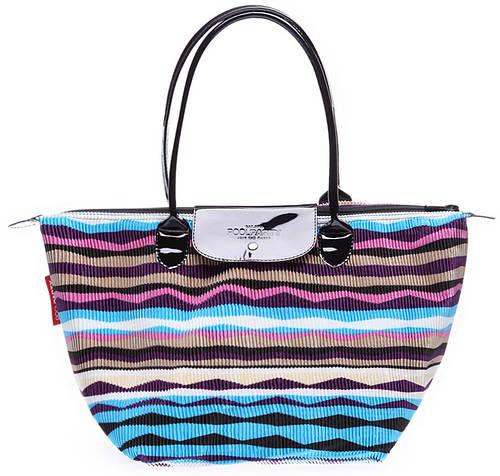 Удобная женская вельветовая сумка с клапаном POOLPARTY pool80-velvet-blue синяя