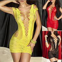 Платье сеточкой секси