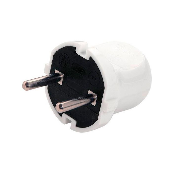 Вилка 10А (колокольчик) белая НР-04