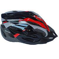 Велосипедный шлем NB FT-18-1 56-62 см Черный с красным (80840237)