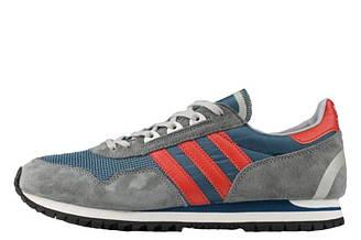 Оригинальные мужские кроссовки Adidas Originals ZX400 Grey Orange | Адидас ZX400 серые