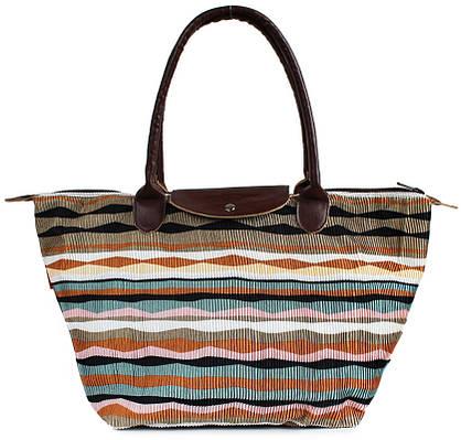 Пляжная вельветовая сумка POOLPARTY pool80-velvet-brown