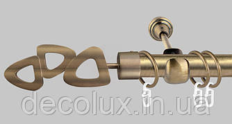 Карниз для штор однорядный металлический 25 мм, Лилет