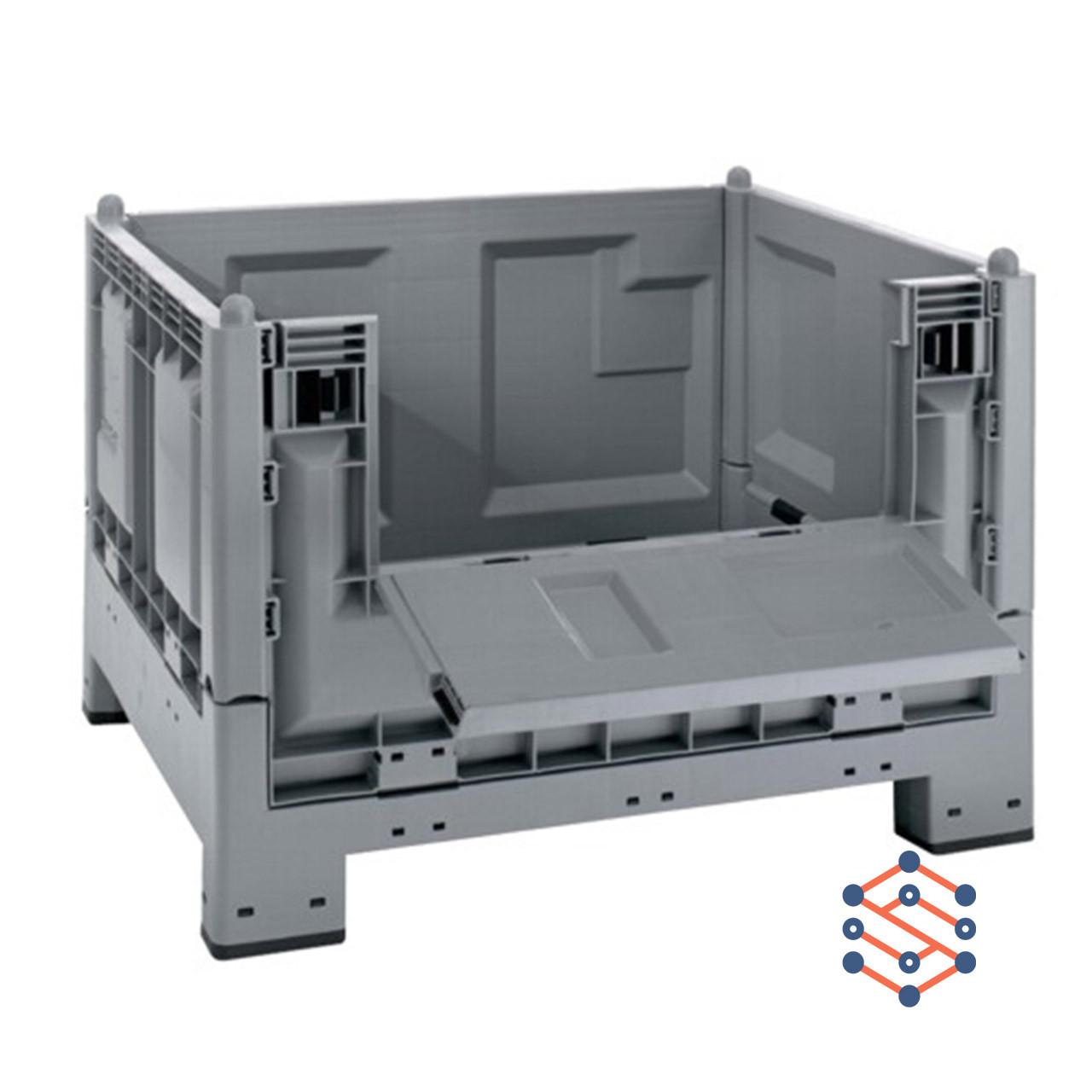 Разборной платиковый контейнер на 4-х ножках 1200x1000x847мм